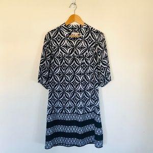 Banana Republic Black and White Patterned Dress